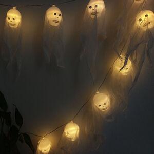 Halloween 10 Skull LED Lights