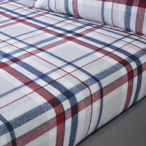BRUSHED COTTON TIERNEY CHECK Single Fitted Sheet
