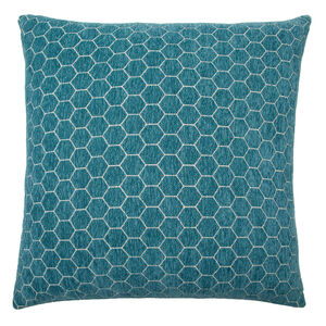 Honeycomb Cushion 58x58cm - Teal