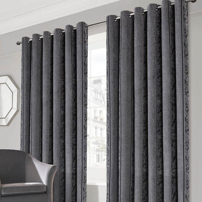 PARKER GREY 66x72 Curtain