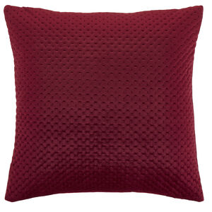 Velour Stitch Cushion 58x58cm - Berry