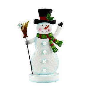 Lightup Metal Snowman Decoration
