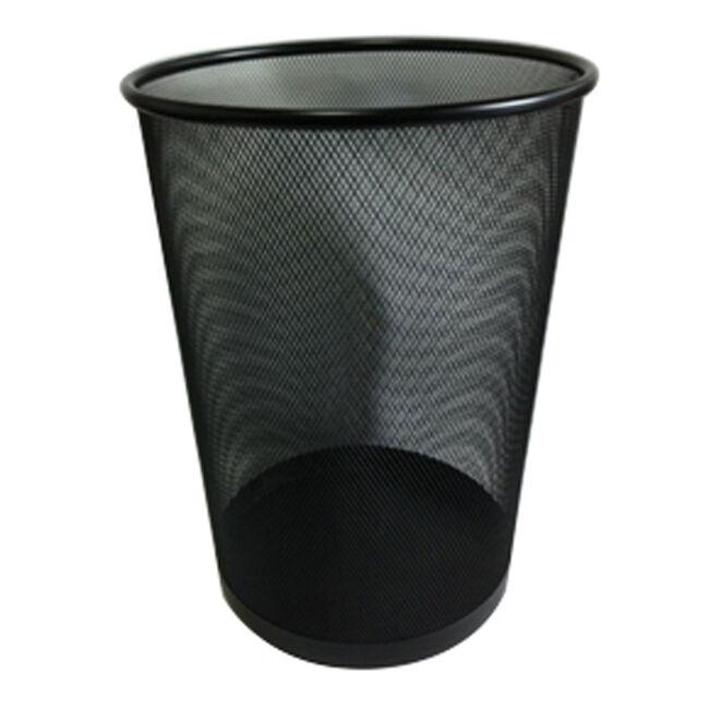 Large Mesh Waste Paper Bin Black