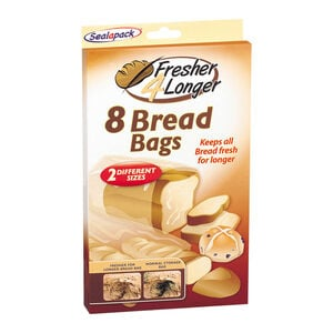 Sealapack Fresh 4 Longer Bread Bags - 8 Pack