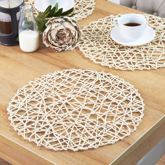 Moderato Round Natural Placemat