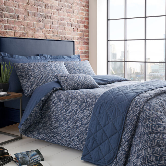 SINGLE DUVET COVER Armadillo Scale Navy