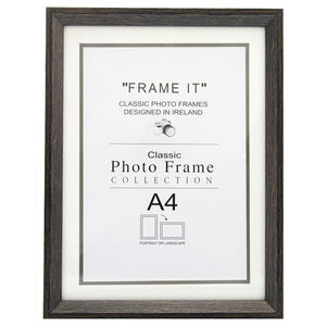 Aged Dark Wood Photo Frame A4