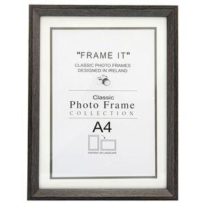 Aged Dark Wood Photo Frame A4