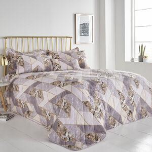 Marbled Geo Gold Bedspread 200cm x 220cm