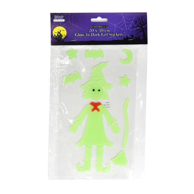 Halloween Glow in Dark Gel Stickers 20cm x 30cm