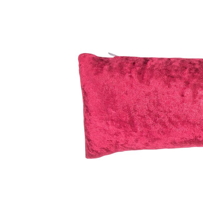 Velvet Crush Draught Excluder 22 x 90cm - Red