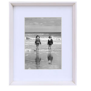 "5x7"" REINE WHITE Wood Bevelled Frame"
