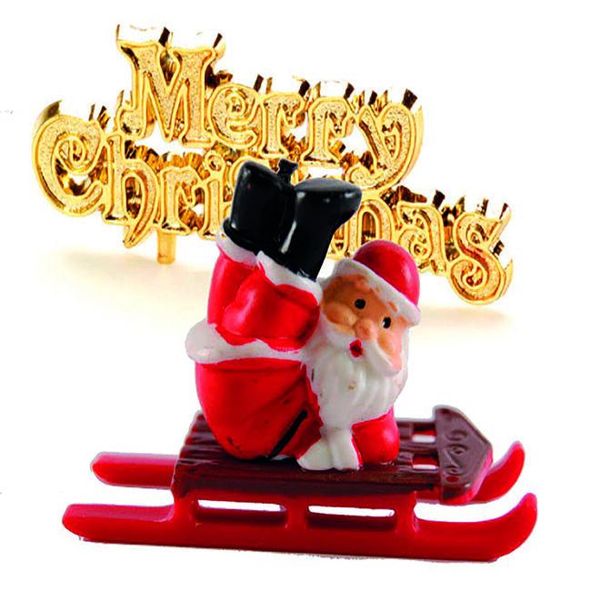 Father Christmas on Sleigh and Motto