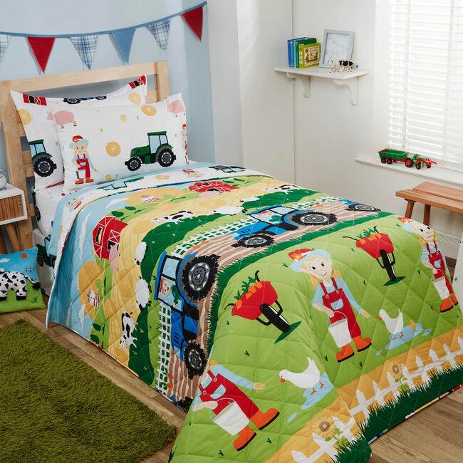 On The Farm Bedspread 200 x 220cm - Multicolour