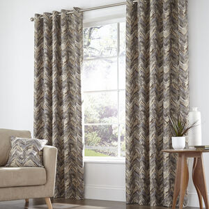 Zig Zag Natural Curtains