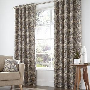Zig Zag Natural Curtains