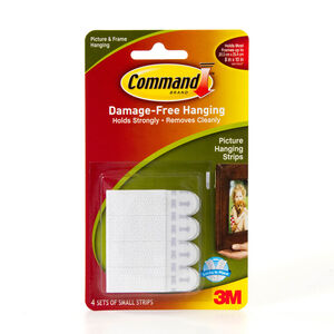 Command 4Pk Small Picture Hanging Strips