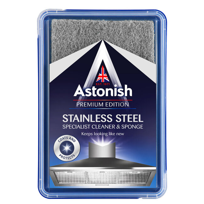 Astonish Premium Stainless Steel Cleaner & Sponge