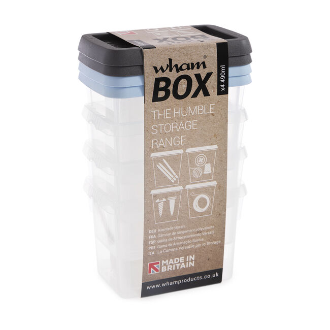 Set of 4 Whambox and Lid 490ml