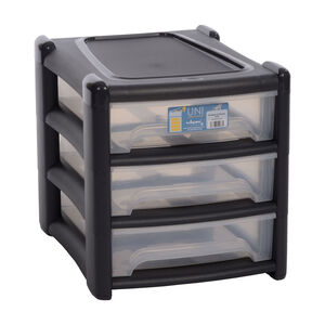 Wham Shallow Charcoal 3 Drawer Unit