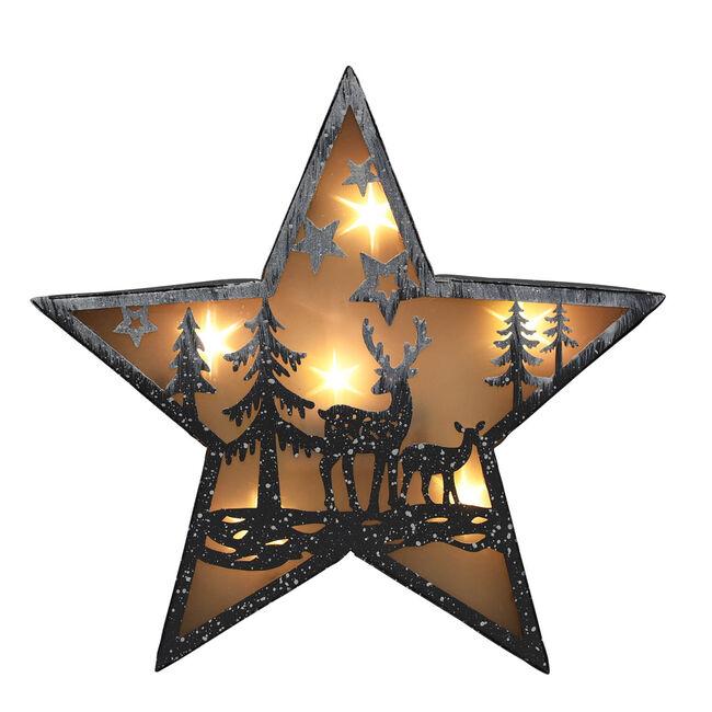 Reindeer's in Forest Light Up Scene