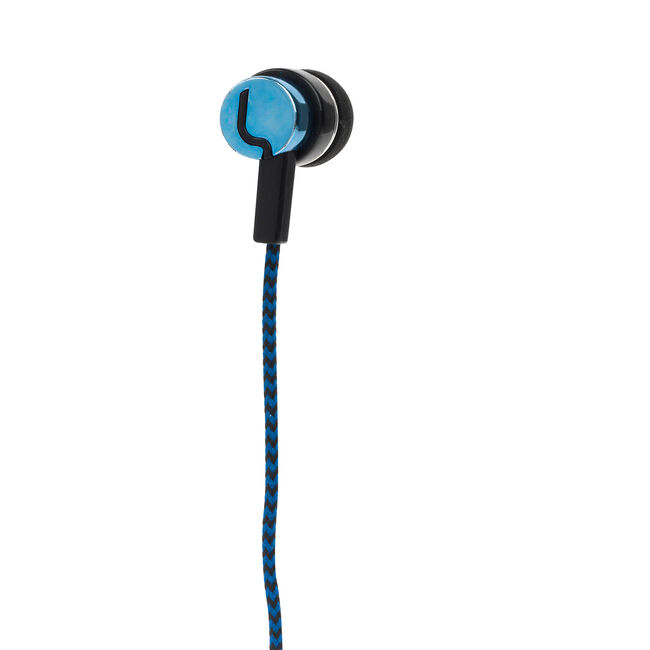 Intempo Fabric Cable Earphones - Blue