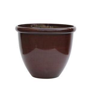 Large Burgandy Glaze Plant Pot
