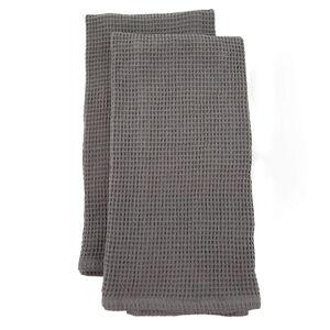 Waffle Tea Towels 2 Pack - Charcoal