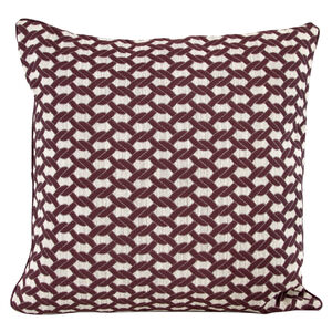 Rope Purple Cushion 58cm x 58cm