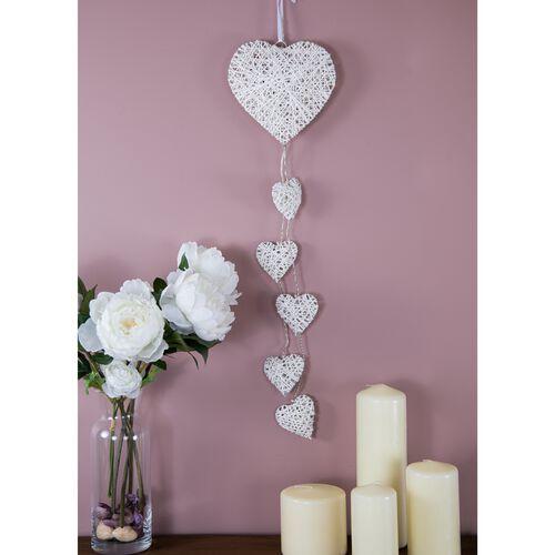 6 LED Decorative Light Up Hanging Hearts
