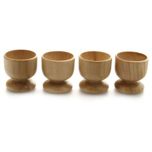 Egg Cups Beech 4 Pack