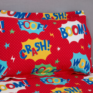 Superhero City Oxford Pillowcase Pair - Multi