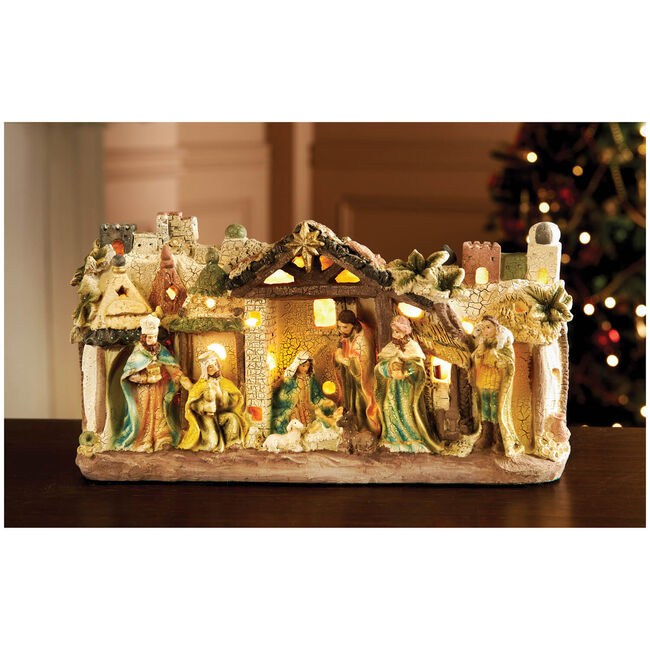 Light Up Nativity Scene