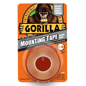 Gorilla Clear Mounting Double Sided Tape 1.5m