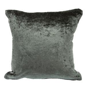 Velvet Crush Cushion Cover 2 Pack 45x45cm - Green