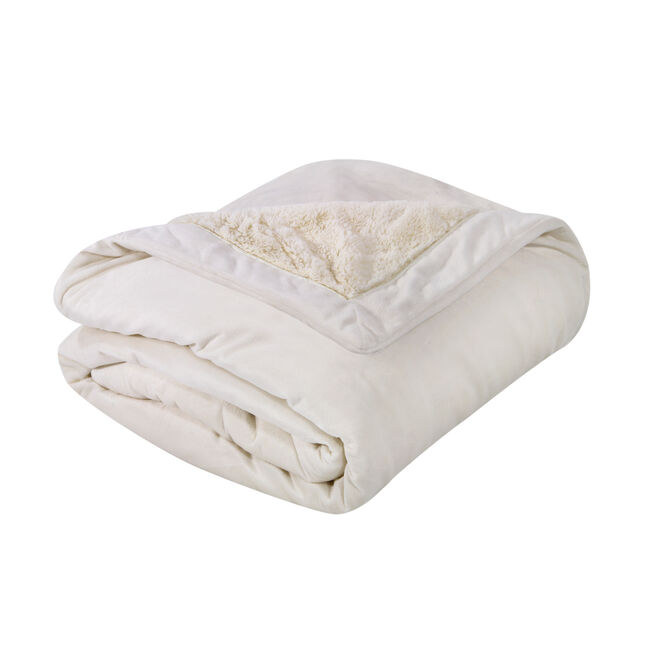 Nicole Day Luxury Cream Throw 130 x 170cm