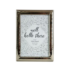 Silver Plated Boxed Frame 5x7""