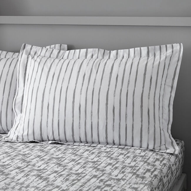 Ryan Grey Oxford pillowcase Pair