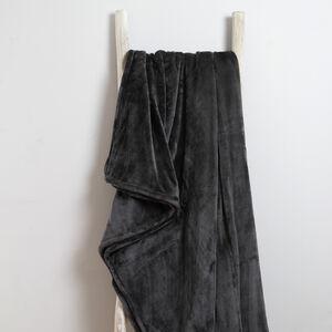 Ruane Plush Velvet Throw Charcoal 150 x 200cm