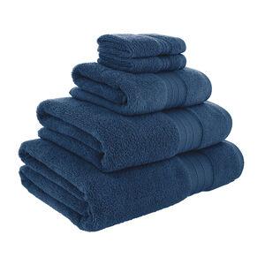 450GSM  ZERO TWIST NAVY 30*30 Face Towel 2pk