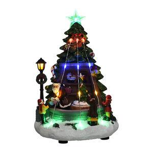 Light up Musical Christmas Tree and Santa Scene