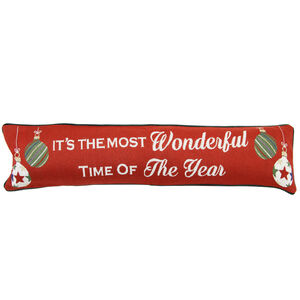 Wonderful Baubles Draught Excluder 22x90cm