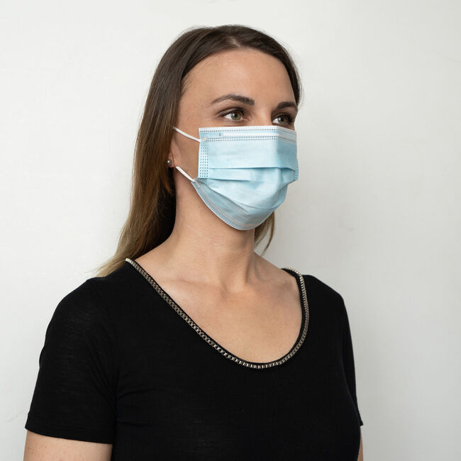 Disposable 3-Ply Face Masks - Box of 10