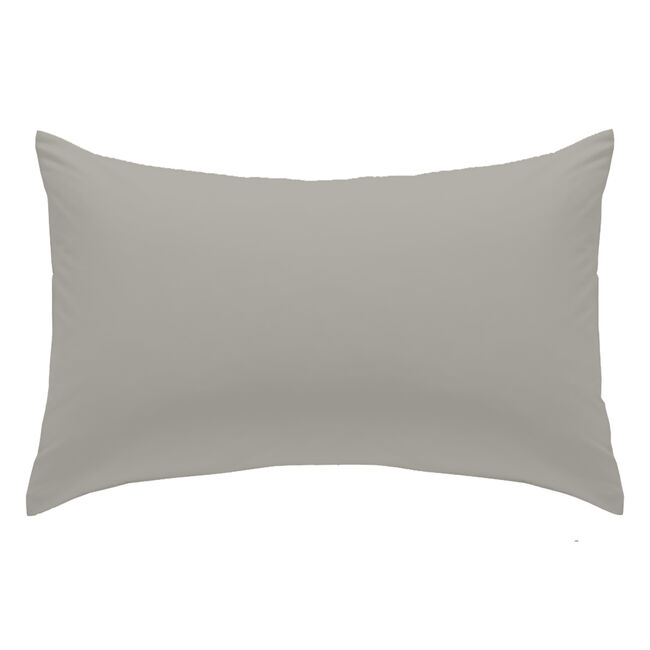 Luxury Percale Housewife Pillowcase Pair - Ice Grey