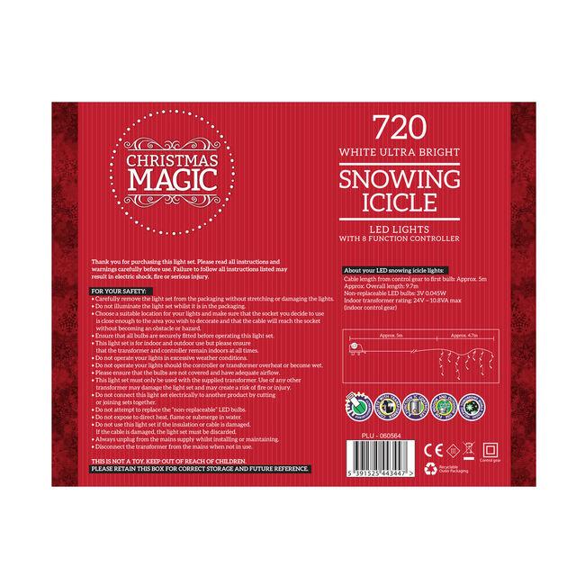 720 White Icicle LED Snowing Light