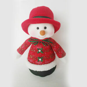 Red and Green Snowman 10""