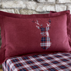 Brushed Cotton Stag Check Oxford Pillowcase Pair