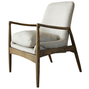 Amelie Oatmeal Fireside Chair