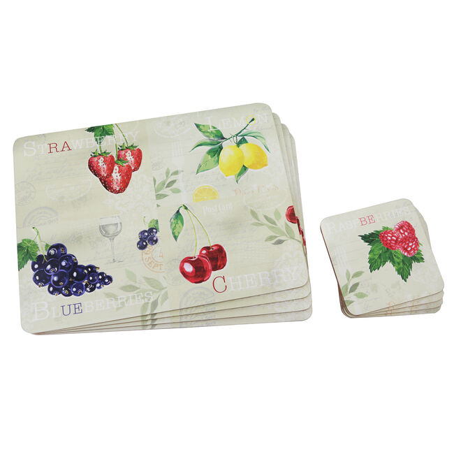 Fruit Mats & Coasters 4 Pack