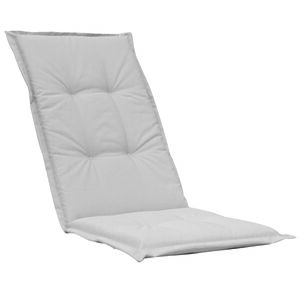 High Back Chair Cushion Grey 120x48x4cm